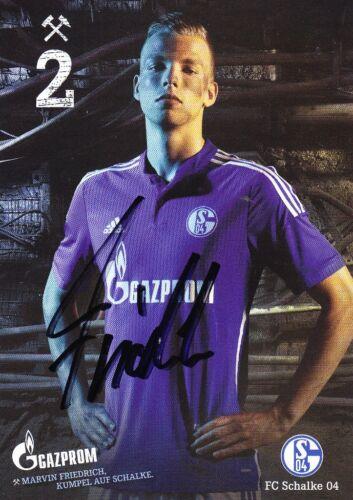 Saison 2014//2015 Original Autogrammkarte Marvin Friedrich FC Schalke 04