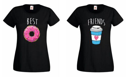 """Trvppy supprimes Best Friends T-shirt set /""""Donut /& Coffee/"""" Sister Blondie Brownie BAE"""