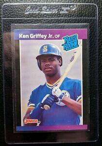 1989-DONRUSS-33-KEN-GRIFFEY-JR-ROOKIE-CARD-RC-SEATTLE-MARINERS-HOF-GEM-MINT