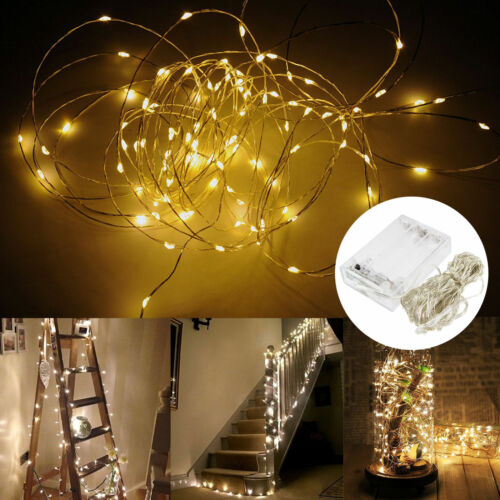 20//30//40//50//100LEDs Battery Operated LED Copper Wire Christm String Fairy Light
