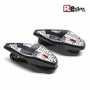 paire de clignotants leds moto scooter goutte d 39 eau noire neuf clignotant led ebay. Black Bedroom Furniture Sets. Home Design Ideas