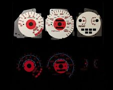92-95 Civic LX/EX/Si MT Red Indigo Glow White Gauges 92 93 94 95 (I-126)