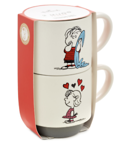 Hallmark-Peanuts-Linus-and-Sally-Roses-Are-Red-Stacking-Mugs-Set-of-2-New