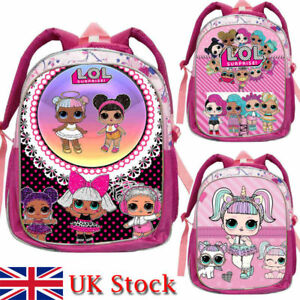 Image is loading Girls-LOL-Surprise-Doll-Unicorn-Backpack-School-Bag- 91d929539e