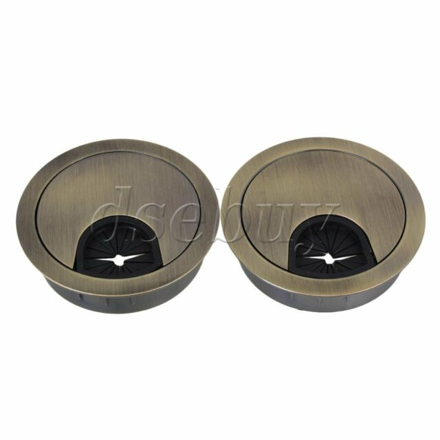 Zinc Alloy 50mm Bronze Cable Grommets Office Desk Tidy Wire Hole Cover Set  Of 2