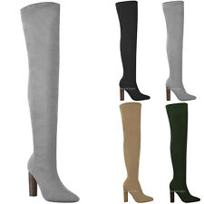 c3cdad52b9f item 2 Womens Ladies Thigh High Stretch Knit Boots Over The Knee Celeb High  Heels Size -Womens Ladies Thigh High Stretch Knit Boots Over The Knee Celeb  High ...
