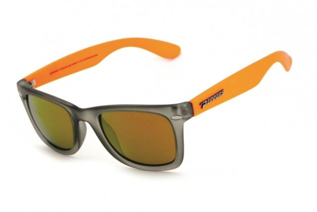 d2f56c49840 NEW Peppers Sweet Orange Gold Mirror Polarized Rectangle Mens Sunglasses  Msrp 45