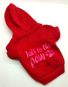 23CM SMALL RED TALK TO THE PAW DOG JUMPER HOODY CHIHUAHUA YORKIE PUPPY - stoke on trent, Staffordshire, United Kingdom - 23CM SMALL RED TALK TO THE PAW DOG JUMPER HOODY CHIHUAHUA YORKIE PUPPY - stoke on trent, Staffordshire, United Kingdom