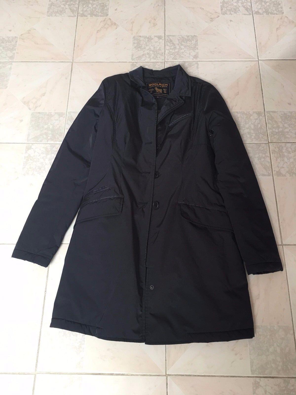 Bellissimo cappotto impermeabile Woolrich ORIGINALE da damen Blau taglia M