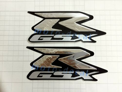 GSXR1000 Emblem Raised 3D Chrome Decal Tank Sticker Suzuki GSXR600 750 Bling