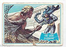 1966 Topps Batman Blue Bat with Bat Cowl Back (7B) The Grim Gladiator