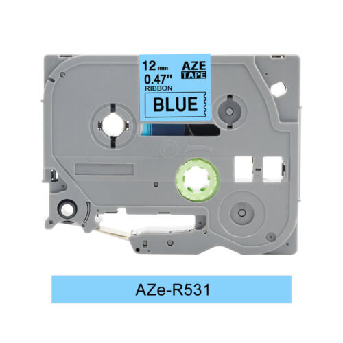 Replace Brother P-Touch TZ TZe 231 631 131 Laminated White Tze Label Tape 12mm