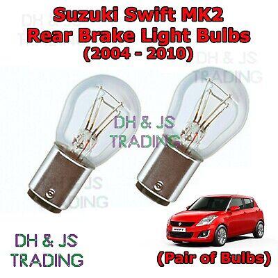 Suzuki Swift MK3 Red 4-LED Xenon Bright Side Light Beam Bulbs Pair Upgrade