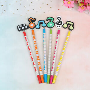 6Pcs-lot-creative-pencil-musical-writing-wooden-pencil-stationery-for-studeDD