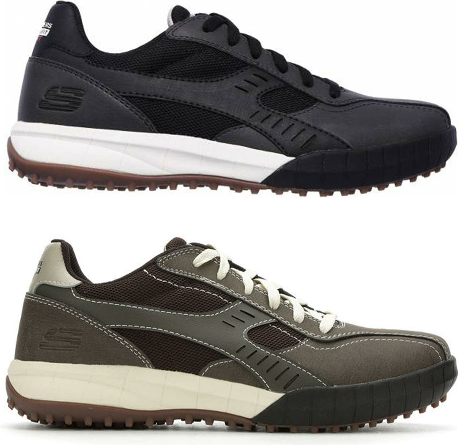 Skechers FLOATER 2.0 Mens Genuine Leather Memory Foam Sporty Lace Up Trainers