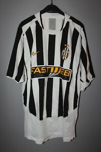 Soccer-International Clubs JUVENTUS 2003/2004 HOME FOOTBALL SOCCER JERSEY SHIRT MAGLIA NIKE MENS SIZE XL