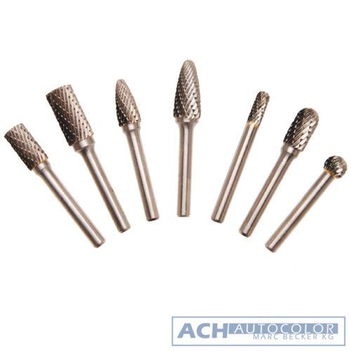 7 Piezas HSS fresadora conjunto de perforación y fresadoras madera cobre etc-bgs 8626