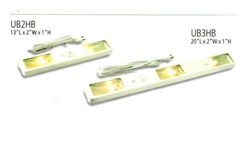 """Westek DESIGNER Halogen UNDER CABINET LIGHTING 13/"""" 20/"""" 25W 120V Black//Brass NEW"""