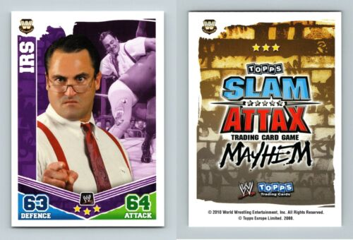 IRS-WWE Slam Attax Mayhem 2010 TOPPS TCG Carte