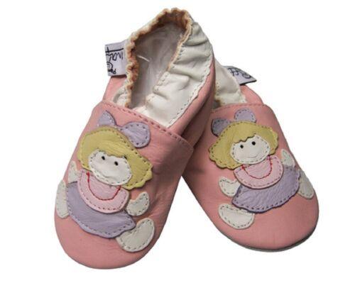 Leder Schuhe Puschen Puppe Echtleder Hauschuhe Größe XXXL 27 28 Echtleder NEU