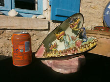 Vintage Vallauris Fish lamp, Kitsch, 1950's/60's, Majolica French seashell retro