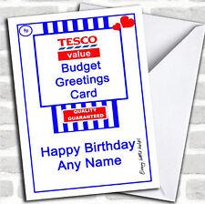 Personalised tesco value funnyspoof birthday greeting card a5 ebay funny joke tesco value spoof birthday customised card bookmarktalkfo Images