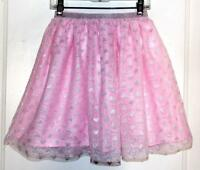 Children's Place Net Tutu Skirt With Silver Hearts Size M (7-8)