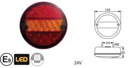 LED tractor nfz 3-sala-lámpara hamburguesas plana luz trasera izquierda//derecha camiones