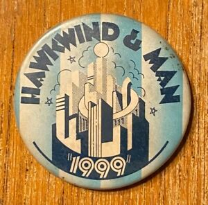 HAWKWIND & MAN The 1999 Party Tour 1974 US Concert BUTTON Prog VG+ Vintage