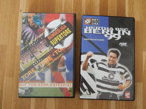 Hertha BSC  Brlin 1999 und Bundesliga Supertore  VHS  wie Neu