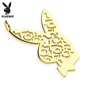 316l stainless steel 225 xoxo playboy bunny pendant with cord image is loading 316l stainless steel 2 25 034 xoxo playboy aloadofball Image collections