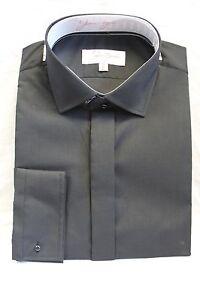 100% QualitäT Black Plain Collar Shirts