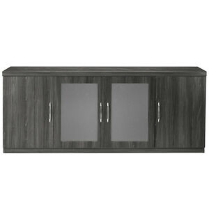 Details about LOW WALL MODERN OFFICE CREDENZA with Doors Cabinet Storage  Conference Meeting 72