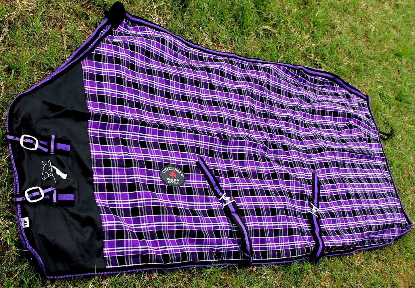 Horse Cotton Sheet Blanket Rug Summer Spring Purple 5330   for your style of play at the cheapest prices