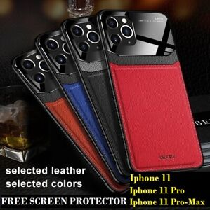iPhone-11-Pro-Max-11-Pro-11-Business-PU-Leather-Case-and-Free-Screen-Protector