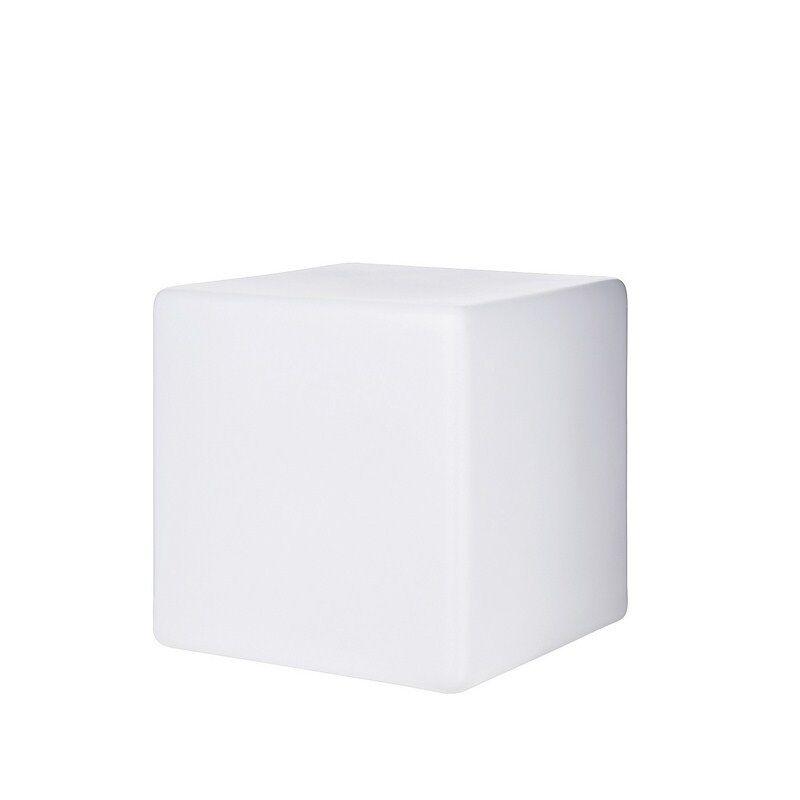 Paletto da esterno bianco a 1 luce moderno cubo L.50 collezione Luna