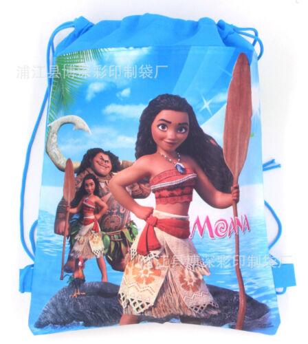Hot sale Moana Bag Swimming Clothes Environmental PE Toy Drawstring Backpacks