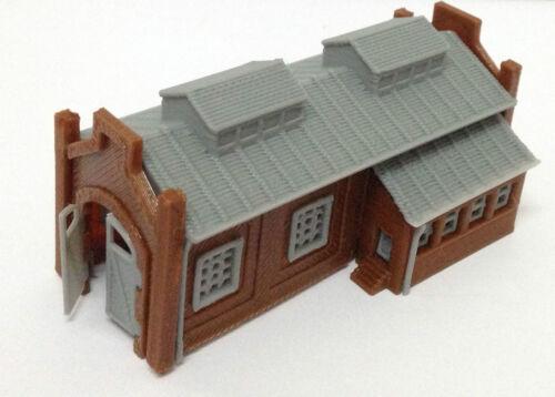 Spur N 1:160 Outland Models Modelleisenbahn Gebäude Lokschuppen 1-ständig