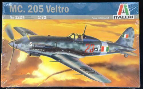 """Italeri 1:72 MC.205 ont LTRO /""""défait Factory Enveloppé Italien WW2 Fighter 2 Sqdns"""