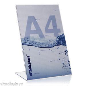 5x-DIN-A4-Werbeaufsteller-L-Staender-L-Aufsteller-aus-hochwertigem-Plexiglas