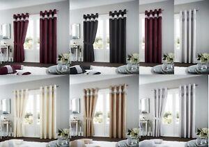 Anillo-de-cortina-de-lujo-Oxy-Top-Seda-De-Imitacion-Cortinas-Ojal-Par-de-cortinas