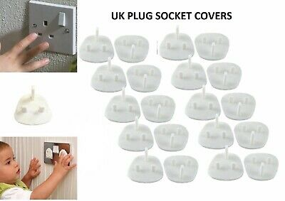 30 Child Safety UK Plug Socket Covers Mains Electrical Protector Inserts Guard