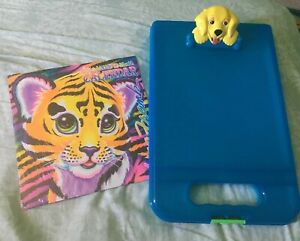 Lisa-Frank-BE-CREATIVE-Storage-Clipboard-Blue-w-CASEY-Yellow-Dog-Calender