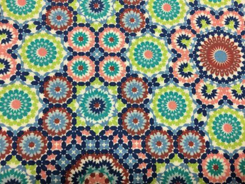 coupon de tissu  PUR coton  dessin  moderne anis  3.00 m ; Ref M