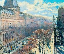 Boulevard des Italiens by Gustave Caillebotte 42cm x 35cm Canvas Print