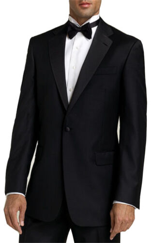 Size 44S Jacket /& 37S Pants Formal Dress Wedding Men/'s Black Tuxedo Prom