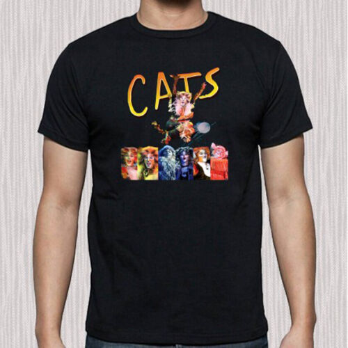 CATS Musical Broadway Show Poster Logo Men/'s Black T-Shirt Size S to 3XL