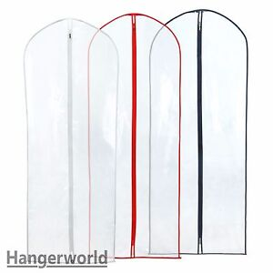Hangerworld-Pack-of-6-Clear-Dress-Covers-60-034-Long-Suit-Garment-Coat-Clothes-Bag