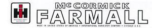 International-Harvester-IH-Farmall-McCormick-Tractor-Decal-2-034-x-18-034