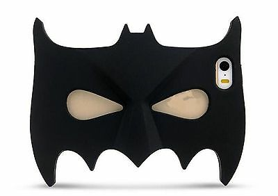 Luxury 3D Black Batman Mask Soft Silicone Case Cover skin For Various Cell phone